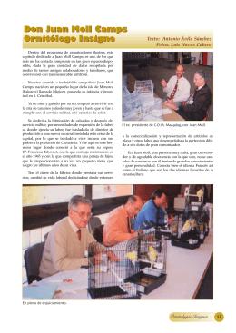 D. Juan Molls Camps, ornitólogo insigne