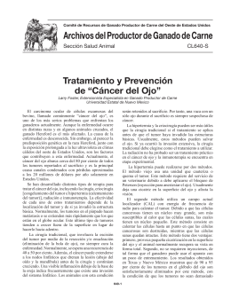 """640-S: Tratamiento y Prevención de """"Cáncer del Ojo"""""""
