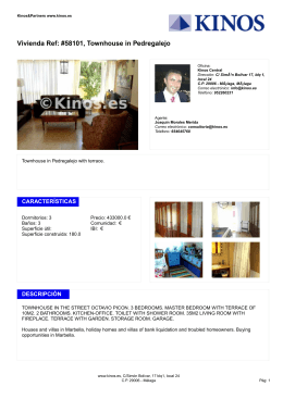 Vivienda Ref: #58101, Townhouse in Pedregalejo