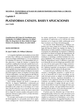 PLATAFORMA CATALYS. BASES Y APLICACIONES
