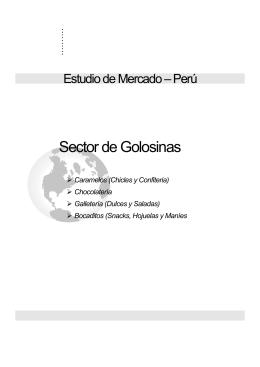 Estudio de Mercado Sector de Golosinas en Perú