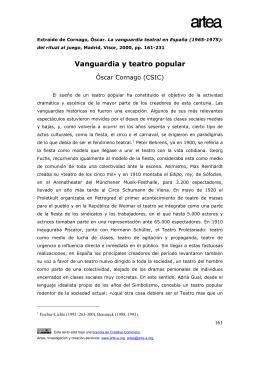 Vanguardia y teatro popular - Archivo Virtual de Artes Escénicas