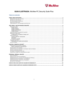 GUIA ILUSTRADA: McAfee PC Security Suite Plus
