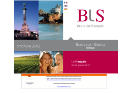 France Langue, Bordeaux - Brochure