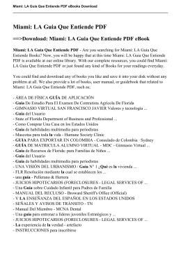 Miami: LA Guia Que Entiende PDF eBook