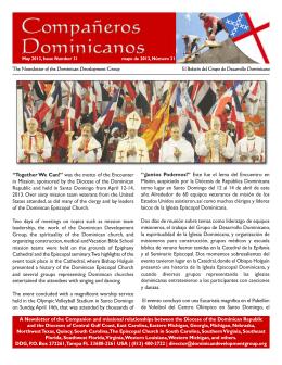 DDG Newsletter - The Dominican Development Group
