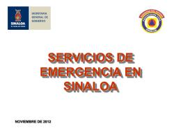 servicios de emergencia en sinaloa