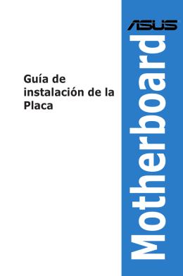 Guía de instalación de la Placa