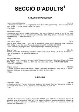secció d`adults 1 - Ajuntament de Mataró