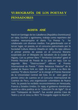 VI.BIOGRAFÍA DE LOS POETAS Y PENSADORES