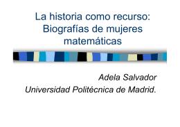 Biografías de mujeres matemáticas
