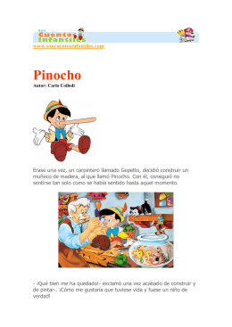 Pinocho - Cuentos infantiles