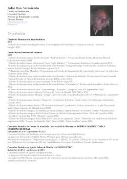 Julio Bao Sarmiento Experiencia