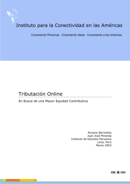 Tributación Online: Computerization of The Tax System