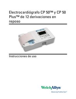 Electrocardiógrafo CP 50™ y CP 50 Plus™ de 12