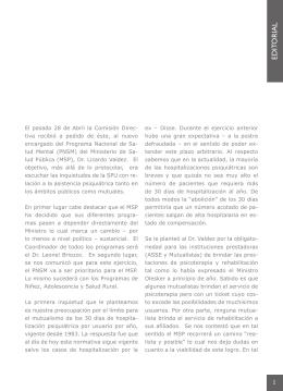 EDIT ORIAL - Sociedad de Psiquiatría del Uruguay
