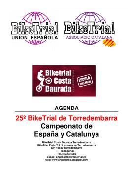Agenda Actualizada 25º BikeTrial Torredembarra