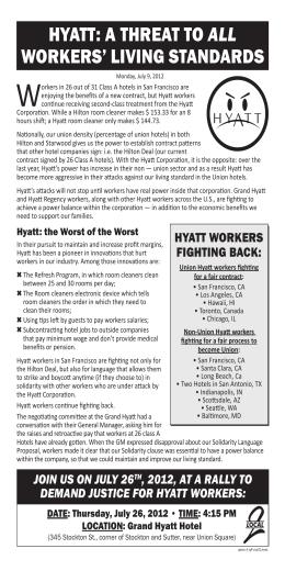 hyatt - San Francisco Labor Council