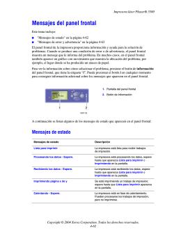 Guía del usuario de la impresora láser Phaser 5500