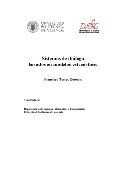 Sistemas de diálogo basados en modelos estocásticos