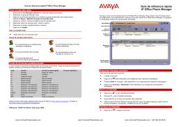Guía de referencia rápida IP Office Phone Manager
