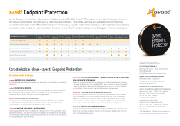 avast! Endpoint Protection. Datasheet.