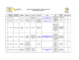 directorio de artesanos y productores 2013 delegación