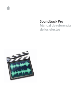 Manual de referencia de los efectos de Soundtrack Pro