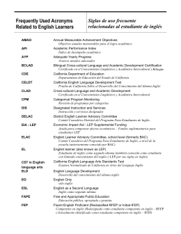 Glossary and Frequently Used Acronyms