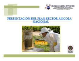 presentación del plan rector apicola nacional