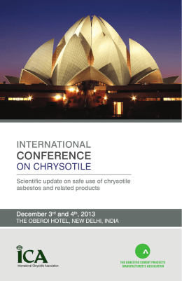 programme - International Chrysotile Association