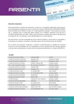 Unidad de Atención Empresas - Argenta