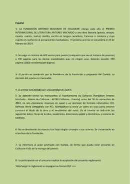 Español 1- LA FUNDACIÓN ANTONIO MACHADO DE COLLIOURE