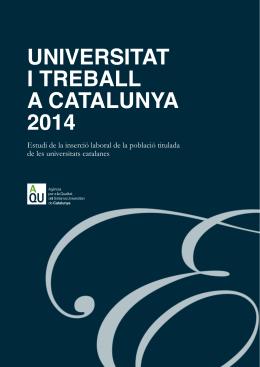 Universitat i treball a Catalunya 2014