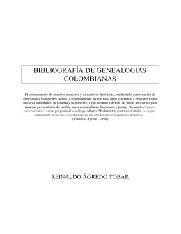 Bibliografía de genealogías colombianas