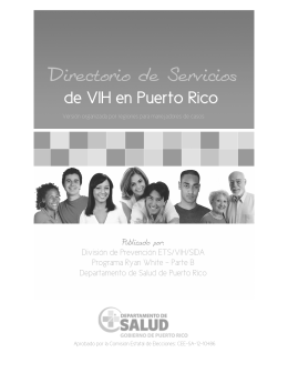 Directorio de Servicios a Personas VIH en Puerto Rico