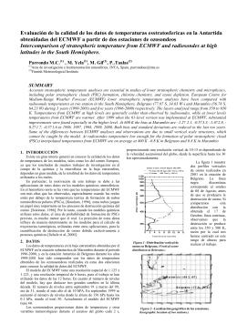 Evaluación de la calidad de los datos de temperatura estratosférica