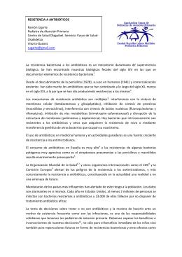 Resistencia a antibióticos - Asociación Vasca de Pediatría de