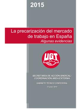 La precarización del mercado de trabajo en España. Algunas