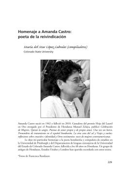 Homenaje a Amanda Castro