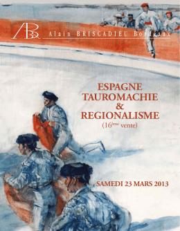 ESPAGNE TAUROMACHIE & REGIONALISME