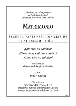 MATRIMONIO - Knights of Columbus, Supreme Council