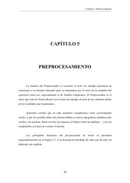 capítulo 5 preprocesamiento - Grupo de Tecnología del Habla