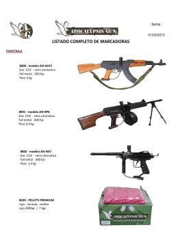 LISTADO COMPLETO DE MARCADORAS