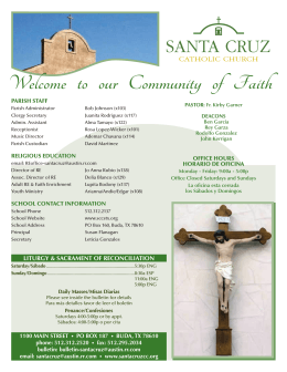 Welcome to our Community of Faith