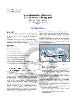 Consideraciones de diseño del FBW del Boeing 777
