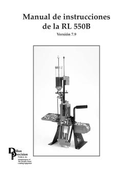Manual de instrucciones de la RL 550B