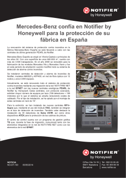 Mercedes-Benz confía en Notifier by Honeywell para la protección