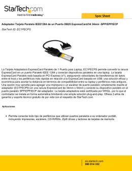 Adaptador Tarjeta Paralelo IEEE1284 de un Puerto DB25