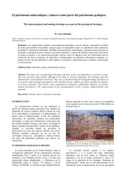 El patrimonio mineralógico y minero como parte del patrimonio